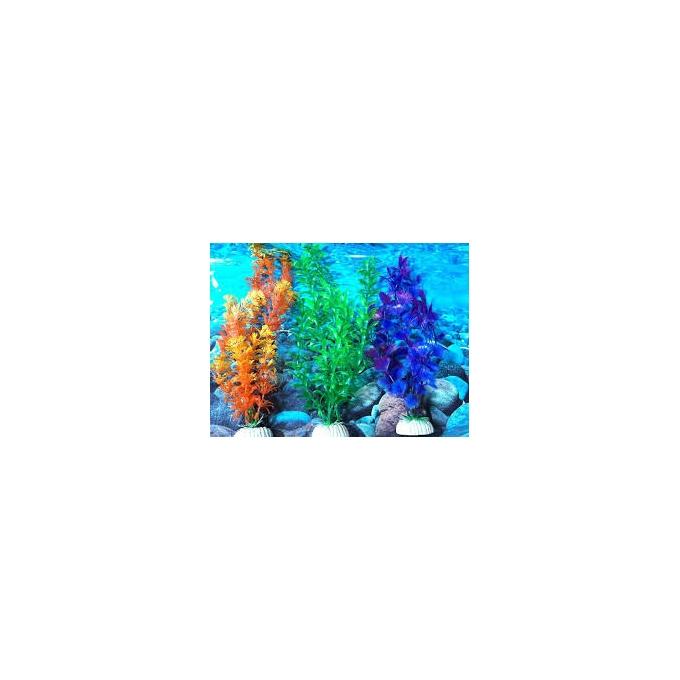 Planta Art Maxxi Ap-12 30cm Laranj/azul