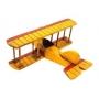 Enfeite Aviao Naufrago/amarelo
