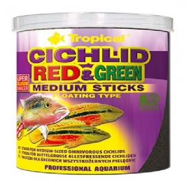 Racao cichlid red green medium stick 36