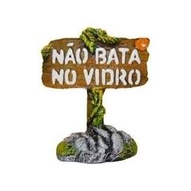 Enfeite Placa Nao Bata Vidro