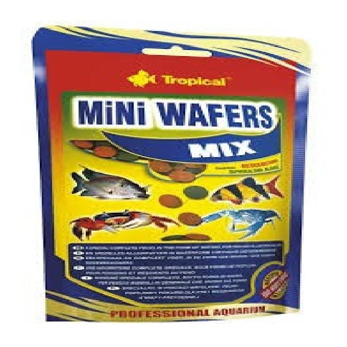 Racao mini wafers mix tropical 90gr sac